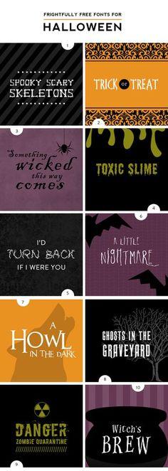 Spooky Halloween Fonts   DesignerBlogs.com