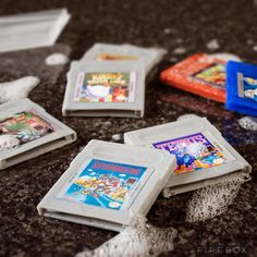 Game Boy Cartridge Soaps / The Game Boy Cartridge Soaps are meant for both part-time and serious gamers who don't want to lose their gaming frame of mind even during bathroom breaks. http://thegadgetflow.com/portfolio/game-boy-cartridge-soaps/