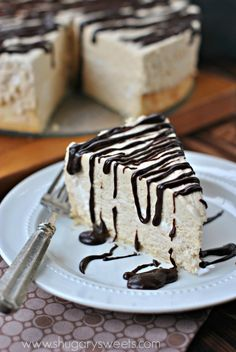 Peanut Butter Mousse Pie - Shugary Sweets