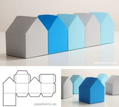 Paper House-to-cut-and-glue-Paper House Box Template Paper House-to-cut . - - Paper-house-to-cut-and-glue-paper house-box-template Paper house-to-cut - Paper Box Template, House Template, Gift Box Templates, Paper Craft Templates, Diy Gift Box, Diy Box, Diy Paper Box, Gift Boxes, Diy And Crafts