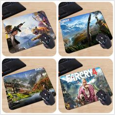 Hot Sale Far Cry 4 Gameplay Skin Coating Comfort Cosplay 18*22cm and 25*29cm Professional Gaming Mouse Mice Mat Mouse Pad