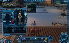 The old republic, mmo preview, l'interface