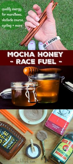 Mocha Honey Race Fuel is packed with quickly-sourced carbs, potassium and a bit of protein to encourage peak performance at you marathon, ultra, obstacle race or other endurance event. Pour into a small race flask or follow instructions to seal off in straws. A better and more economical choice over store-bought gels, gus, chews, drinks and more.