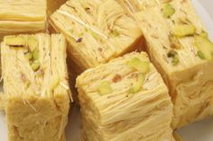 How to make Patisa - Soan Papdi Recipe — Steemit Indian Dessert Recipes, Indian Sweets, Indian Snacks, Sweets Recipes, Cooking Recipes, Indian Recipes, Diwali Recipes, Eggless Recipes, Vegetarian Recipes