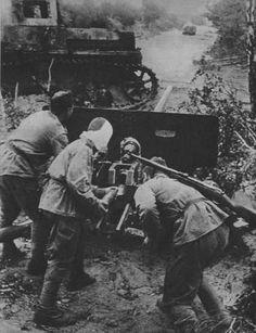 Antitank Zis-3 in action.