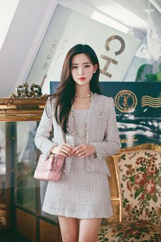 Ulzzang Fashion, Kpop Fashion Outfits, Girls Fashion Clothes, Korean Outfits, Girl Fashion, Fashion Dresses, Cute Skirt Outfits, Pretty Outfits, Stylish Outfits