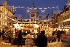 Weihnachtsmarkt in Willisau, Kanton Luzern.