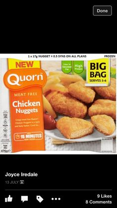 Quorn chicken nuggets syns per nugget Slimming World Tips, Slimming World Snacks, Slimming World Recipes, Quorn Chicken Nuggets, Quorn Recipes, Gourmet Recipes, Healthy Recipes, Healthy Meals, Food Print