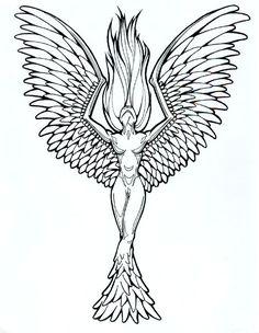 Phoenix Tattoo Designs for Women | tattoo designs phoenix 04 | The Collectioner
