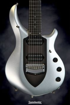 Music Man John Petrucci Majesty - 7 String, Silver Lining (guitar #m05082) - http://www.7stringguitar.org/for-sale/music-man-john-petrucci-majesty-7-string-silver-lining-guitar-m05082/30890/