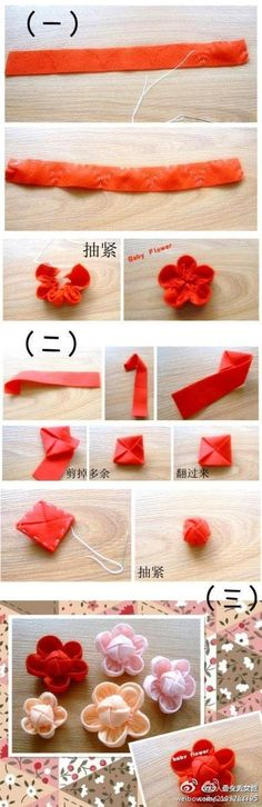 How to sew a fabric flower.