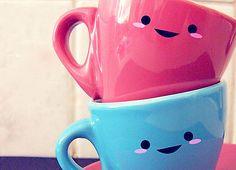 Kawaii かわいい Coffee Mugs Cute Coffee Mugs, Coffee Love, Tea Mugs, Coffee Cups, Happy Coffee, Coffee Coffee, Morning Coffee, Coffee Menu, Coffee Tumbler