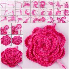 DIY Pretty Crochet Flower   iCreativeIdeas.com Follow Us on Facebook --> https://www.facebook.com/icreativeideas