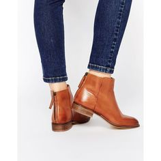 Image 1 of Dune Philbert Clean Leather Zip Back Ankle Boots tanboots Ankle Booties, Bootie Boots, Shoe Boots, Shoes Heels, Tan Leather Boots, Tan Boots, Cute Shoes, Me Too Shoes, Look Fashion