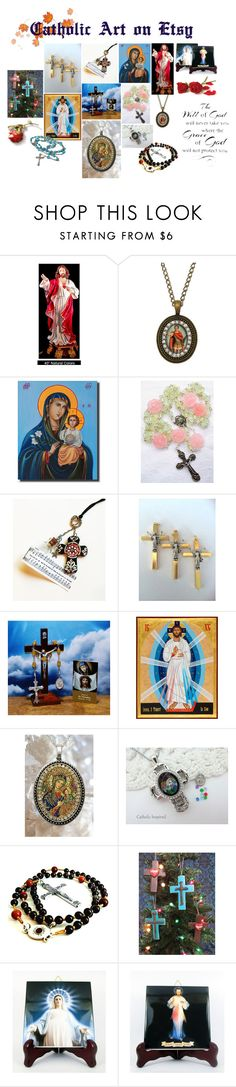 """""""Catholic Art on Etsy by TerryTiles2014 - Volume 14"""" by terrytiles2014 on Polyvore featuring interior, interiors, interior design, Casa, home decor, interior decorating e WALL"""