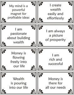 Wealth Affirmation Cards                                                       …