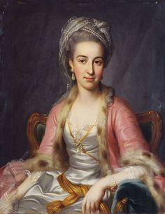 Unknown lady, 1775, by Jakob Emanuel Handmann (Swiss artist, 1718-1781)