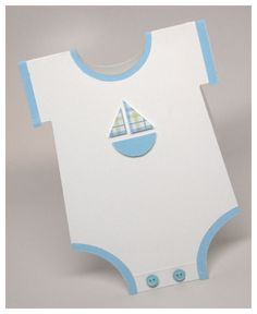 These cards made to look like onesies are just too cute!