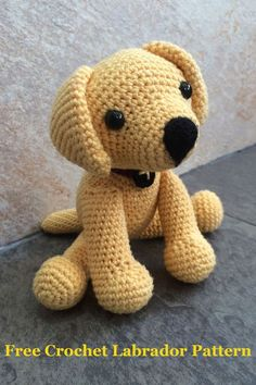 #crochet, free pattern, labrador, dog, puppy, amigurumi, stuffed toy, #haken, gratis patroon (Engels), hond, puppy, knuffel, speelgoed, labrador, #haakpatroon