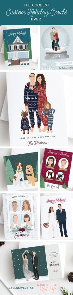 This is your year - slay the holidays. Shop the coolest holiday and Christmas cards around, only from Miss Design Berry. Featuring custom portrait artwork, these are like no other cards out there.