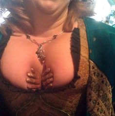 Cleavage Creature Hands Reach Up to Lift & Separate Boobs