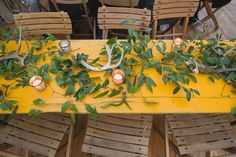 antler + branch table decor | Heirloom Collective
