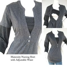 JENNY Maternity Clothes / Nursing Top / by ModernMummyMaternity
