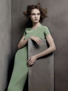 Francisco Costa's best Calvin Klein looks in Vogue. I love that green...!