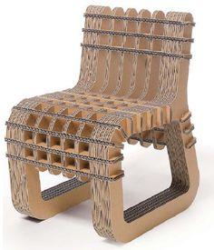 cardboard chair …