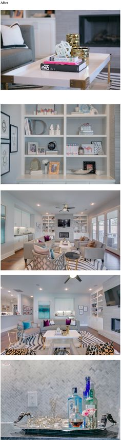 Glam living room before & after--awesome design inspiration!