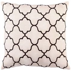 "D.L. Rhein, Moroccan Tile 20""x20"" Brown Embroidered Pillow    $90. Free Shipping."