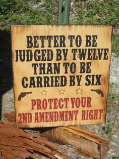 Perfect for my dad for Father's day! 2nd Amendment Sign Gun Owner Sign Made In by BearlyInMontana, $40.00