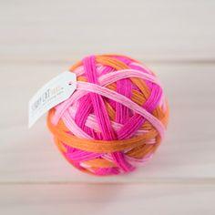 LOLLYPOP  vibrant hand dyed self striping sock yarn
