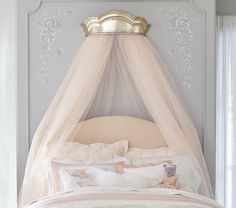 Monique Lhuillier Gold Cornice Canopy potterybarn kids