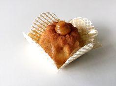 Mini bolinho de churros assado com doce de leite