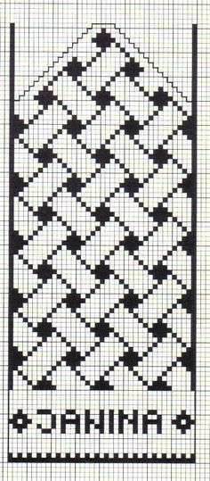 Anna Crochet Hungari https:// Knitting Charts, Knitting Stitches, Knitting Patterns, Crochet Patterns, Filet Crochet Charts, Mittens Pattern, Knit Mittens, Loom Patterns, Beading Patterns