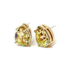 Stella Valle 128 K STREET LEMON EARRINGS ($95) ❤ liked on Polyvore featuring jewelry, earrings, gold, stud earrings, lemon jewelry, studded jewelry, swarovski crystal jewelry e swarovski crystal stud earrings