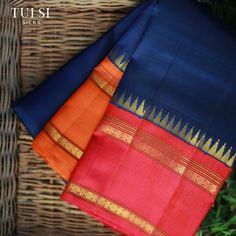 Hmm I want it Kanjivaram Sarees Silk, Kanchipuram Saree, Pure Silk Sarees, Ethnic Sarees, Indian Lehenga, Organza Saree, Cotton Saree, Saree Color Combinations, Wedding Silk Saree