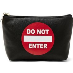"""⛔️Betsey Johnson """"Do Not Enter"""" Cosmetic Pouch⛔️ ❤️Luv Betsey by Betsey Johnson cosmetic bag...full front graphic reading """"DO NOT ENTER""""... Very roomy cosmetic bag, can also be used as a clutch...pu leather,fully lined interior with top zip closure...measures 8""""x6""""x3""""...this bag definitely sends a message...quite the fun way to make a point!!❤️ Betsey Johnson Bags Cosmetic Bags & Cases"""