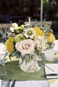 floral and succulent center pieces