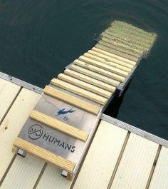 dog ladder for lake for the puppies! Lake Dock, Lake Beach, Boat Dock, Pontoon Boat, Dog Ramp, Lakeside Living, Lake Cabins, Lake Cottage, Lake Life