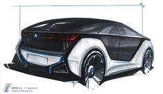 BMW I4 concept drawing