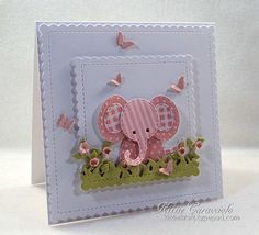 Impression Obsession Patchwork Baby Elephant card by Kittie Cricut Cards, Stampin Up Cards, Baby Motiv, Tarjetas Diy, Baby Shower Invitaciones, Baby Girl Cards, Kids Birthday Cards, Marianne Design, Baby Shower Cards