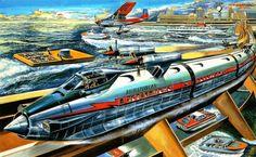 HorizonCar(Rocket Train) Ca. ~1960 by Komatsuzaki