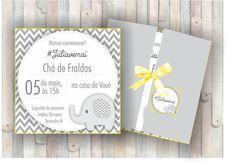 Convite impresso a laser em papel couché 250g. Acompanha envelope fechado com fita de cetim com os nomes dos convidados ou do bebê. Texto personalizável.