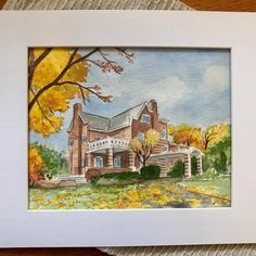 Watercolor house portraits from photographic reference. House Paintings, Arte Sketchbook, Realtor Gifts, House Drawing, Hand Sketch, Watercolor Artwork, Custom Paint, That Way, Custom Homes