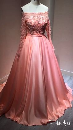 57a3d91f957 Ball Gown Off-the-Shoulder Beading Satin Prom Dresses