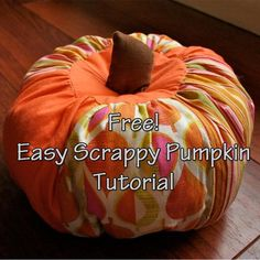 Scrappy Pumpkins by Gingercake | Sewing Ideas - Find out more about Gingercake'sSewing project Scrappy Pumpkins on Craftsy! - via @Craftsy