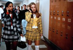 Stacey Dash (as Dionne Davenport) and Alicia Silverstone (as Cher Horowitz) in one of the sleeper hits of the 90s, Clueless, a film by Amy Heckerling, 1995