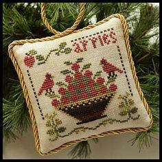 Little House Needleworks - The Sampler Tree Ornament Series - #6 Sweet Apples – Stoney Creek Online Store